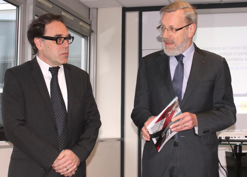 Laurent Sahuquet, le directeur régional de la Banque de France, et le préfet Pierre Pouëssel ont commenté vendredi dernier la situation économique en région.