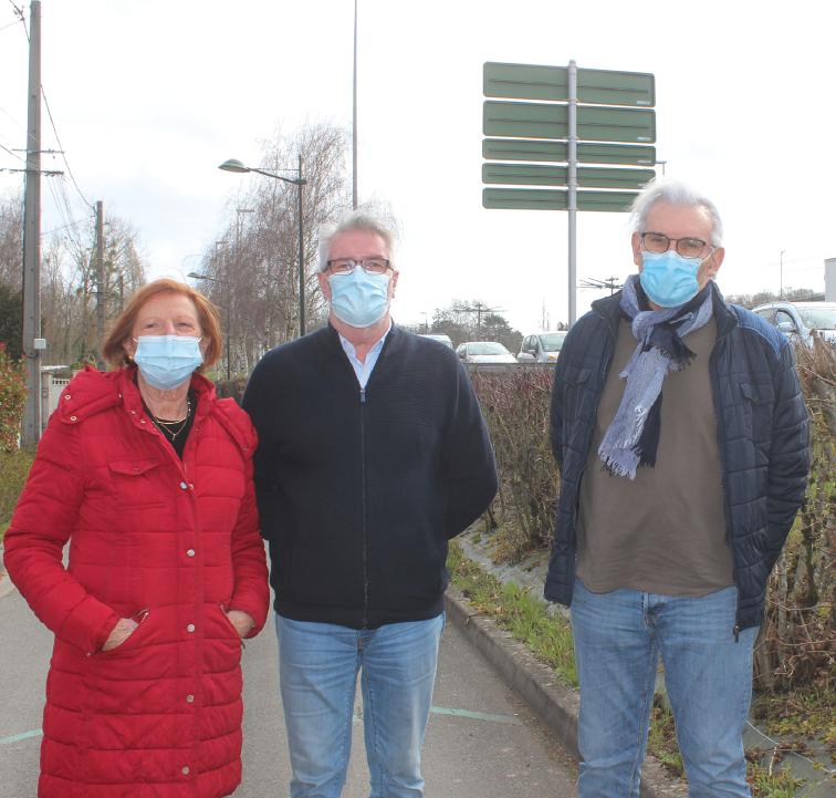Quatre-vingts riverains ont signé la pétition pour demander un mur anti-bruit.